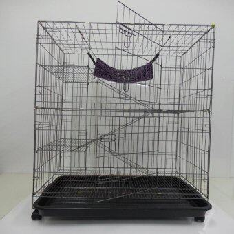 "9134#  3 Level Cat Cage Wrought Iron 36""L x 24""W x 52""H"