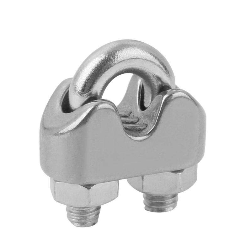 ADS Stainless Steel Cable Wire Fixing Clip M2-M10 Line Cord U-Bolt Rope Clamp Ring
