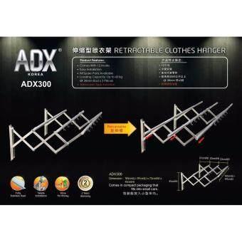 Adx 300 Retractable Clothes Hanger with 3 Pieces