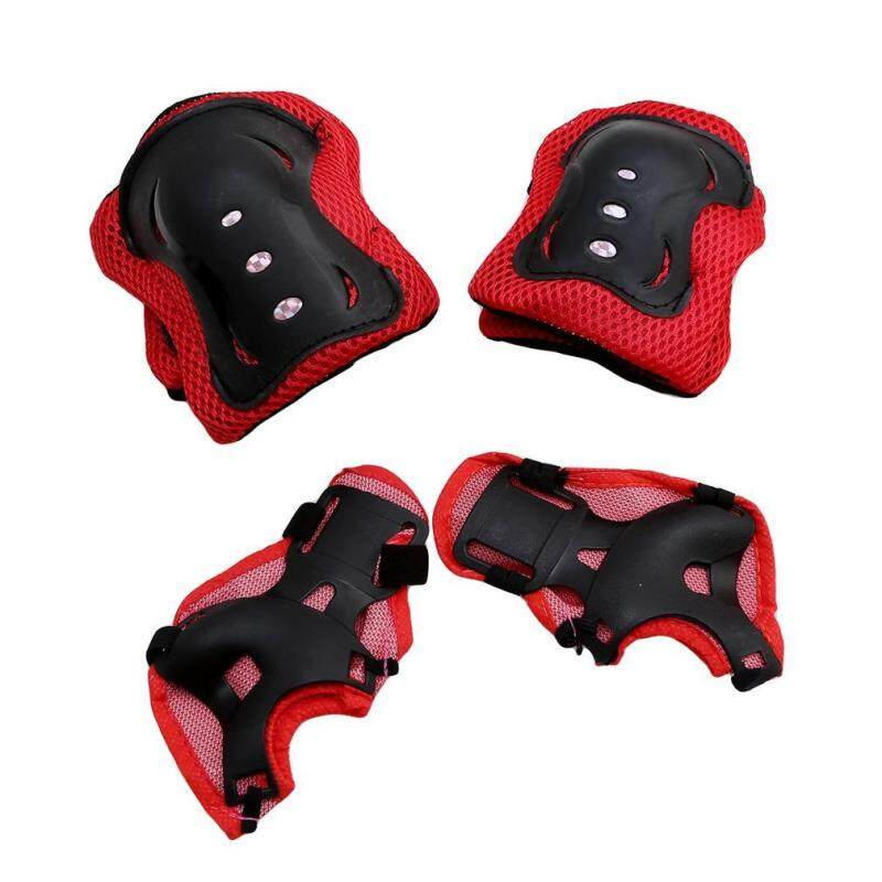 Ai Home Butterfly Scooters Roller Skating Sports Combination Protective Gear (Red)