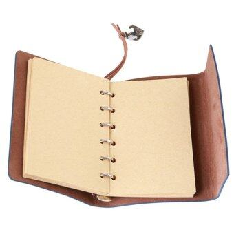 Ai Home Vintage Blank Loose-leaf Notebook Diary Sketchbook NotepadS (Blue .