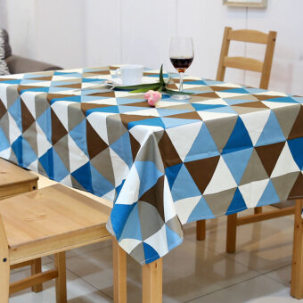 American pastoral country geometric waterproof tablecloth Fabric