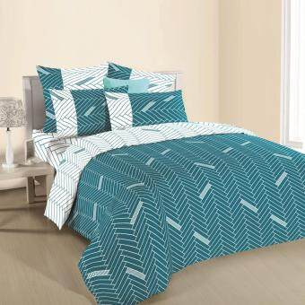 Ann Taylor Creation Fitted Set-Queen-420 Thread Count- HildredCarribbean Sea