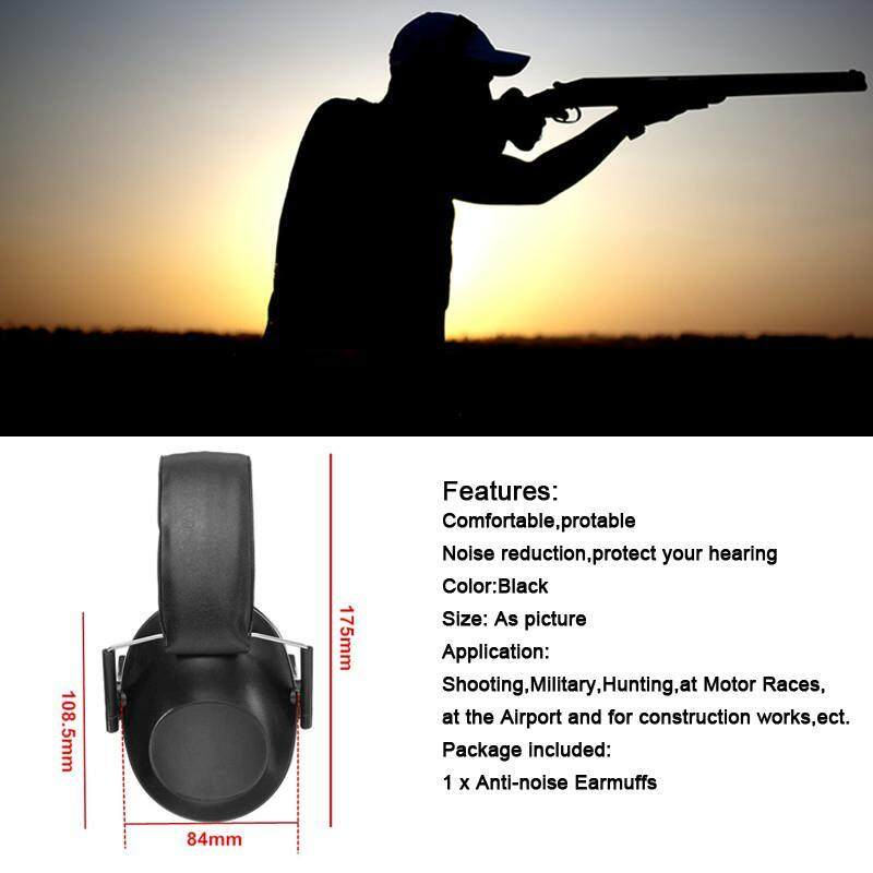 Anti-noise Earmuffs Tactical Outdoor Hunting Shooting Hearing Protection Ear Protector Soundproof Ear Muff (NOT Electronic)