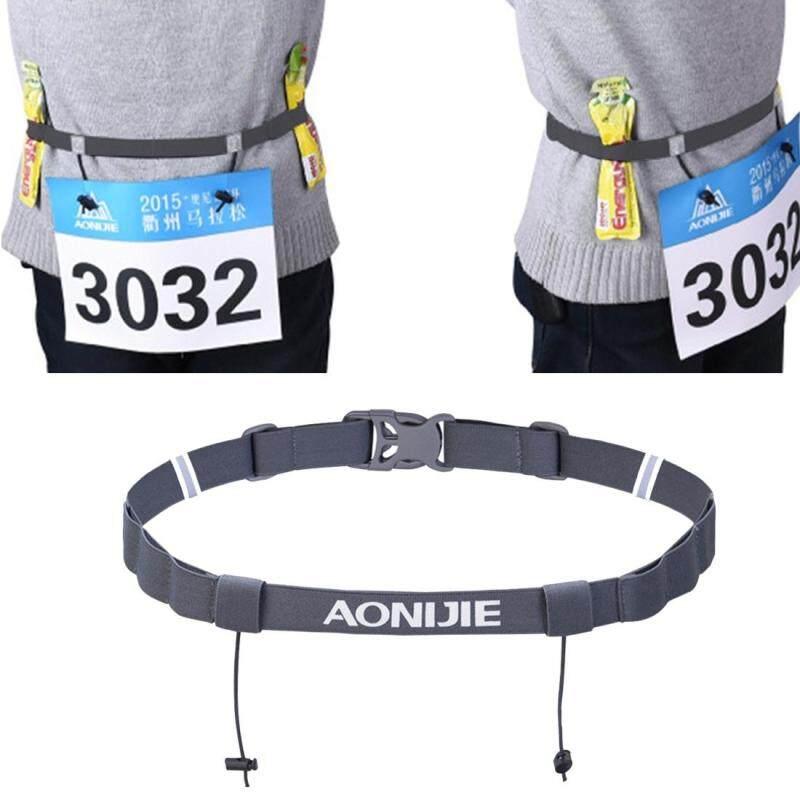 Buy AONIJIE Unisex Marathon Running Race Number Belt with Holder Belt (Grey) Malaysia