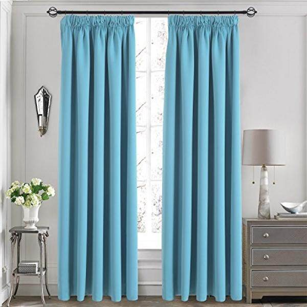 Aquazolax Premium Living Room Blackout Curtains Nursery Essential Thermal Insulated Solid Window Treatment Panels