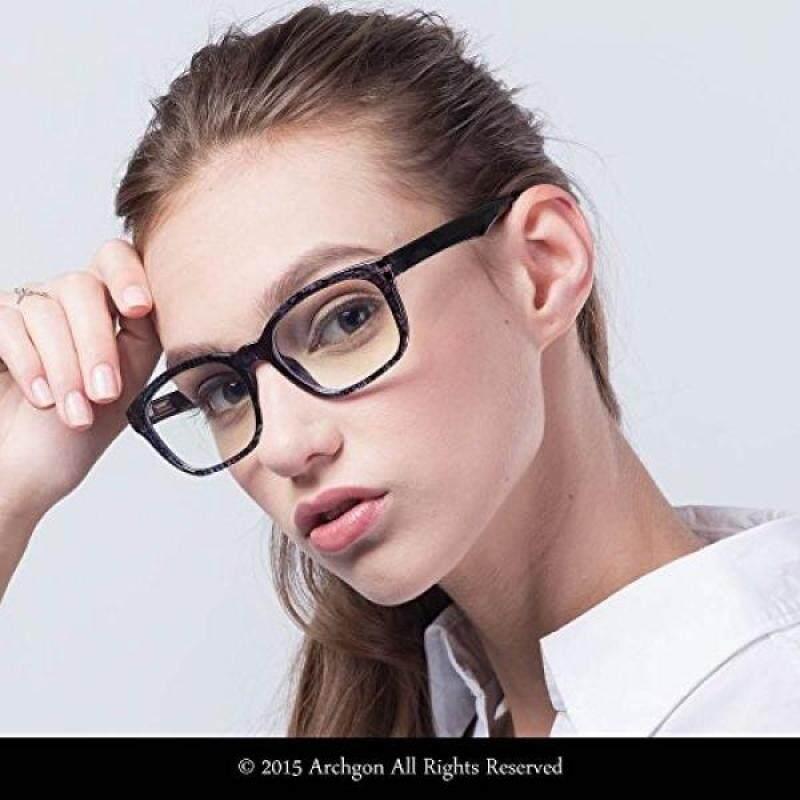 Archgon Fashion Computer Glasses Anti Blue Light UV Protection A+ Crystal Tempered Lens Model Paris Romance GL-B111-BL
