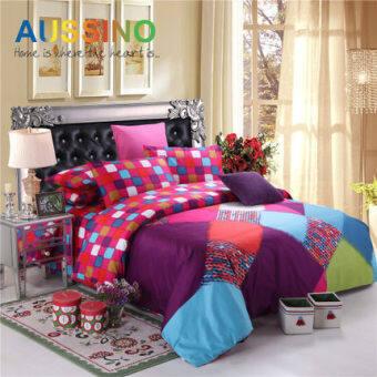 Aussino Aussino high-density cotton twill bed supplies Cotton bed Li four sets of ka ya ni