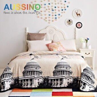 Aussino Castle Print wild flannel spring blanket