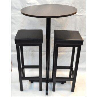 Bar Table set of 1 bar table & 2 stool (Bar table size 60dia x100H cm)
