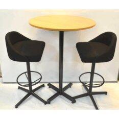 bar table set of 1 bar table u0026 2 stool bar table size 70dia x 100h cm