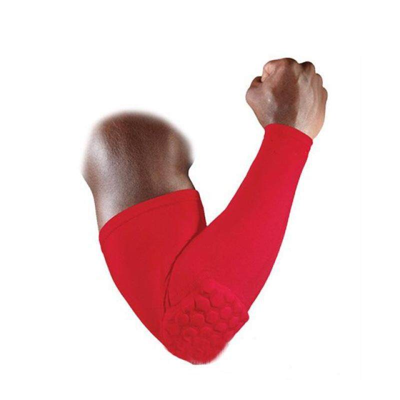 Buy Basketball Volleyball Honeycomb Elbow Pads Protector Brace Guard Elastic Sport Safety Arm Sleeve Warmer Pad Size L Malaysia