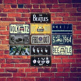 Beatles hot iron art frameless metal painting license plate - 2