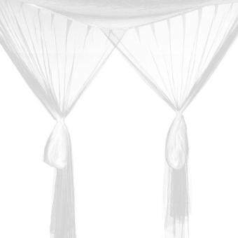 Bed Canopy Bed White Canopy Mosquito Net Full Queen King SizeNetting Mosquito Net Tent Four Open Door Canopy Moustiquaire - 3