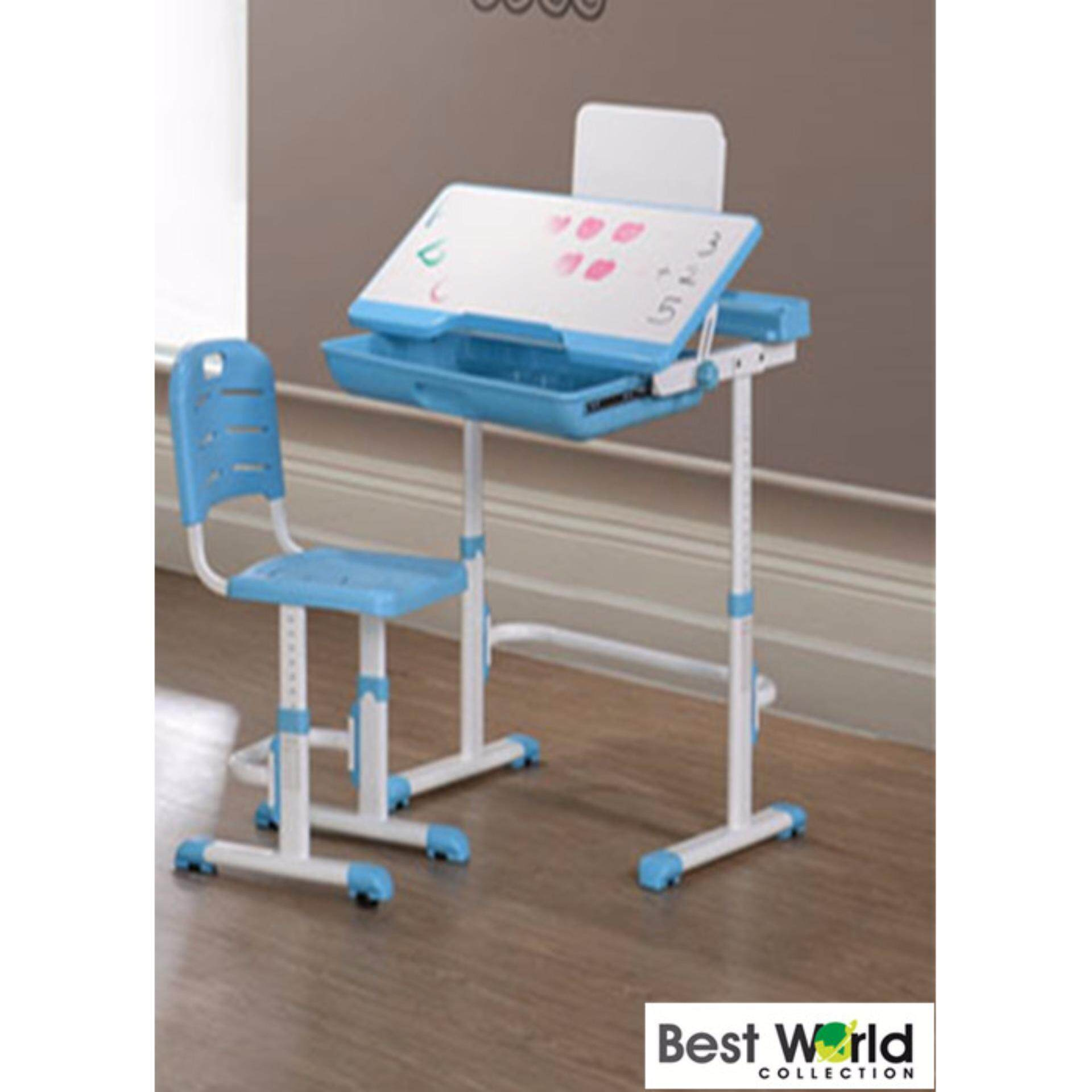 Best Adjule Study Desk With Chair Blue Malaysia