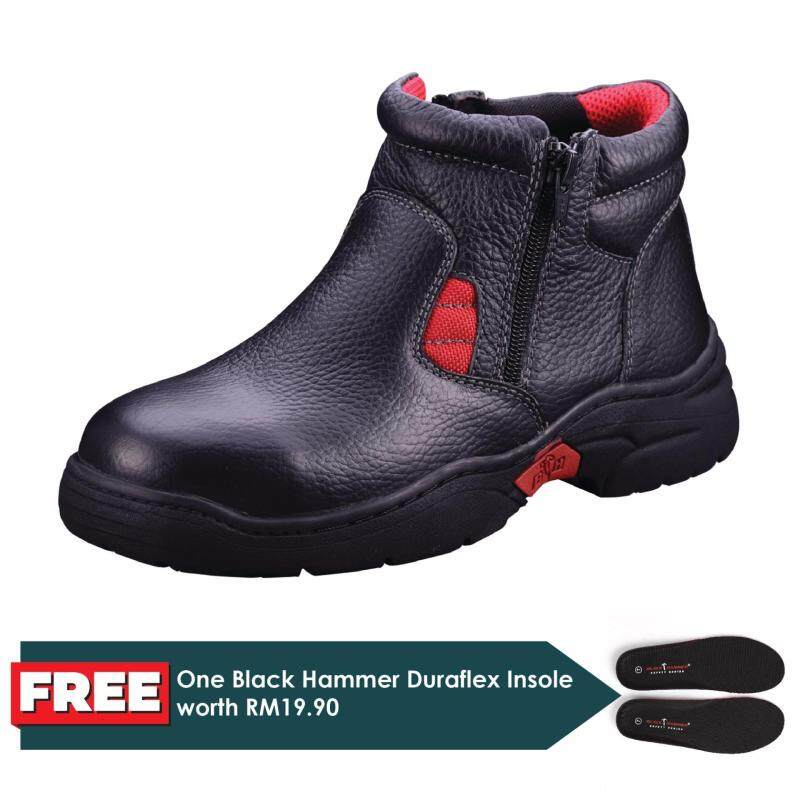 Buy Black Hammer Ladies Mid Cut Zip On Safety Shoe (BH3882) Malaysia