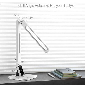 Harga BlitzWolf BW-LT1 Eye Protection Smart LED Desk Lamp Table Lamp Light Rotatable Dimmable 2.1A USB Charging EU