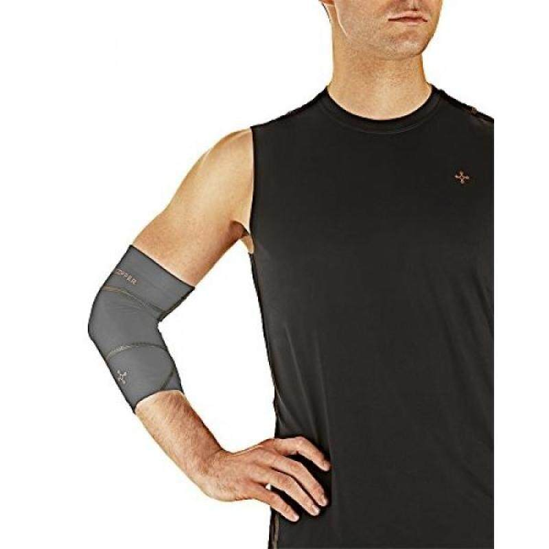 Buy [boran]Tommie Copper Mens Performance Boost Elbow Sleeve, Slate Grey, Small Malaysia