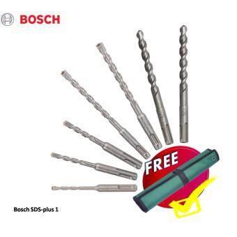 Bosch 7-Piece SDS-Plus-1 Rotary Hammer Drill Bit Set - Tungsten Carbide Tipped + FREE Multi-Purpose Tool-rolls