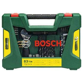 Bosch 83-Piece V-Line TiN drill bit and screwdriver bit set with LED torch and adjustable spanner 2607017193