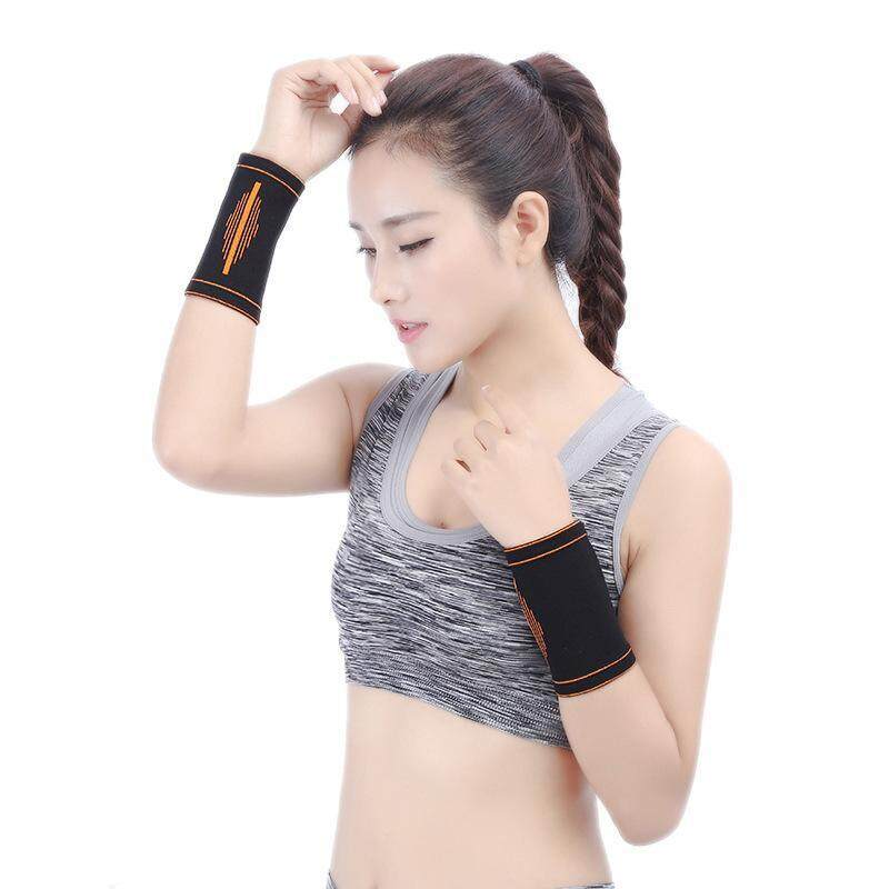 Buy Bracers supplies sport fitness bandages elastic strap cotton basketball wrist band A12YDHJ0511 Malaysia
