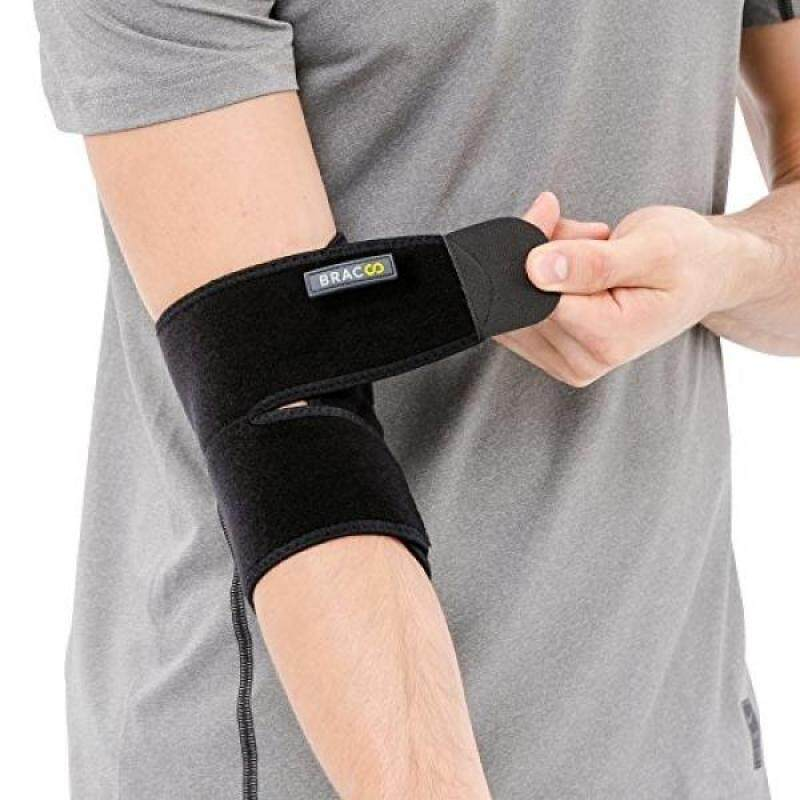 Bracoo Elbow Support, Reversible Stabilizer, Adjustable Brace, Neoprene Sleeve – Arthritic Pain Relief, Sports Injury Rehabilitation & Protection against Re-injury, Black, 1 count