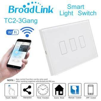 Broadlink TC2-3 Gang AC 170V-240V Smart Home Remote Wireless LightController Wifi Control US Plug