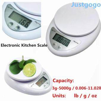 Buy 1 Get 1 Free Gift:Household Electronic Kitchen Scale Smart Digital LCD Display Food Weight Scale White