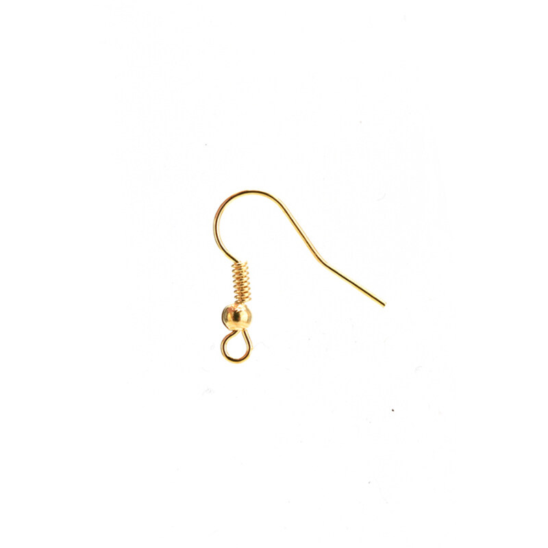 Buytra Earring Hook Plated Silver 100pcs Golden