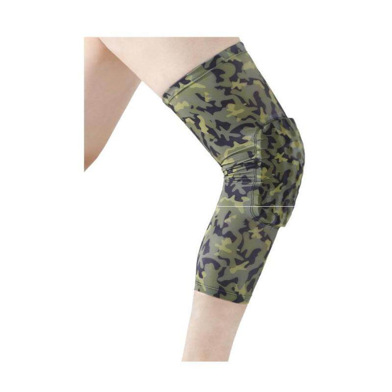 Camouflage collision breathable honeycomb knee basketball mountaineering knee outdoor sports knee protectors (Size:M) A11YDHJ0713