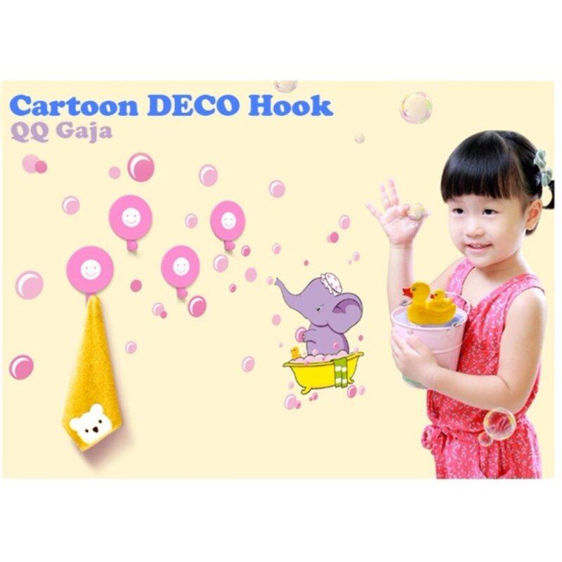 Buy Cartoon DECO HOOK Sucker Hook Key Towel Hanger Wall Holder Hook Multi (qq gaja) Malaysia