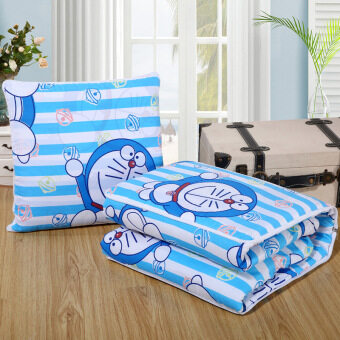 Cartoon pillow quilt dual nap pillow car office coral velvet lumbarpillow cushion air conditioning was blanket