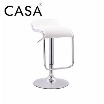Casa Moway Square Seat Design Swivel Bar Stool Chair Counter Kitchen (White)