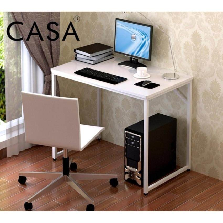 Casa Simple Computer Desk Pc Laptop Table Workstation Study Home Office Furniture White Malaysia