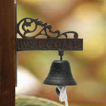 Cast Iron Vintage Style Brown Metal Door Bell Porch Garden WallMount Decoration - 4