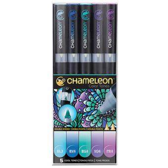 Harga Chameleon Pens Color Tones 5 Pen Cool Set Gradient Markers
