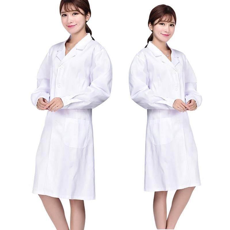 Cocotina Lab Laboratory Warehouse Doctor Work Wear Coat Medical Technician Food Hygiene Women Size L