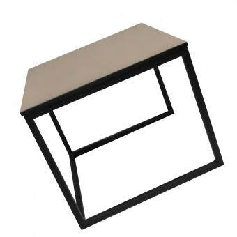 Coffee Side Table with Wooden Top