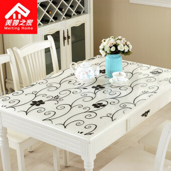 Coffee Table Tablecloth PVC Waterproof Coffee Table Pad Disposablesoft  Glass Tablecloth Crystal Plate Table Mat Tablecloth