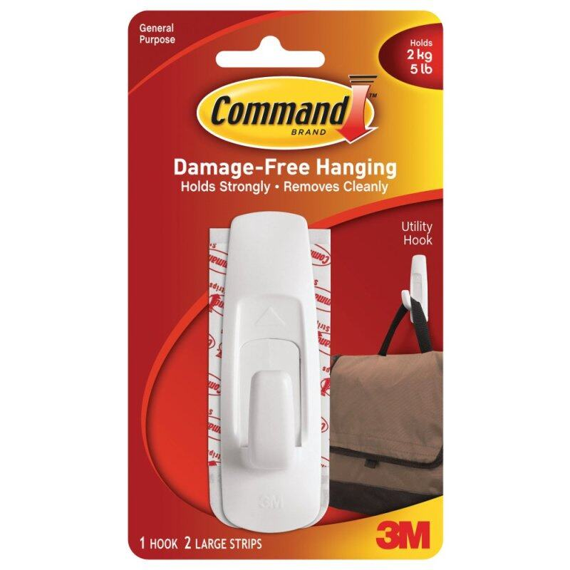 Buy Command Large Utility Hook FREE Command Picture Hanging Strips Malaysia