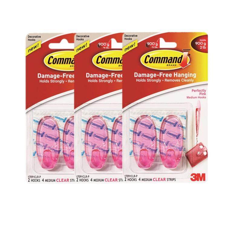 Buy Command Perfectly Pink Clear Hooks (Buy 3 @ RM 10.49) Malaysia