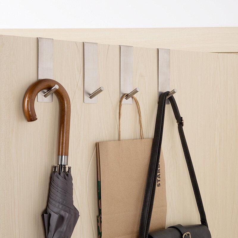 Buy Creative 304 does not rust steel-free nail hook bedroom hanging clothes rack bathroom door after free punch hook strong hanging Clothing hook Malaysia