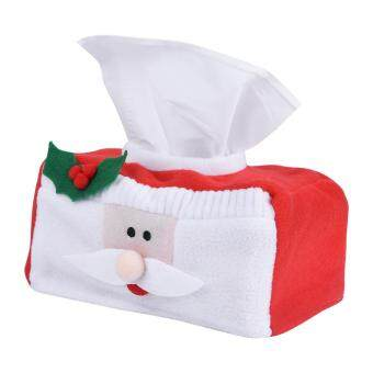 Creative Christmas Rectangle Tissue Box Cover Paper Holder Case Home Decoration (Santa Claus S)