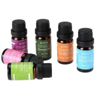Cyber Acevivi New 6pcs a Set Gift Box Package 10ml Pure EssentialOil