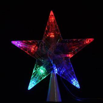 Cyber LED Indoor Outdoor Christmas Tree Topper Star Lights Lamp Xmas Decoration ( Multicolor )