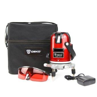 Harga DEKO 5 Lines 6 Points Laser Level 360 Rotary Cross Laser Line Leveling with Oxford Cloth Case