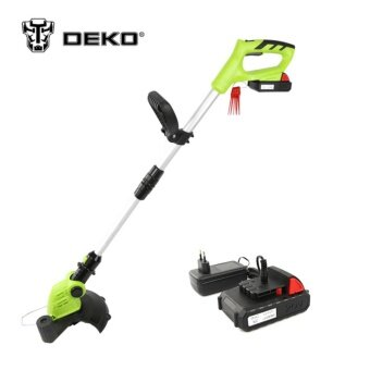 Harga DEKO DKGT06 20V Lithium 1500mAh Cordless Grass Trimmer with Battery Pack and Blade Pendants