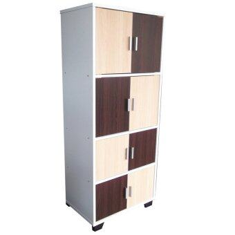 Du0027HOME HA TH4 18 Multi Purpose Cabinet With 8 Doors (Brown)