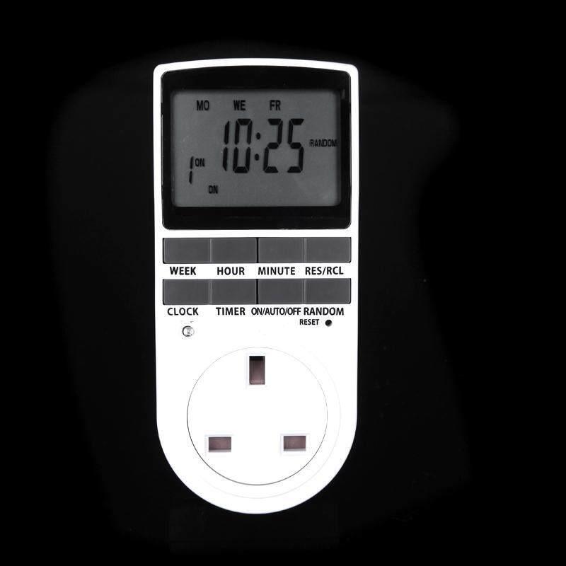 Digital LCD Power Programmable Timer Switch Summer Random Function UK Plug