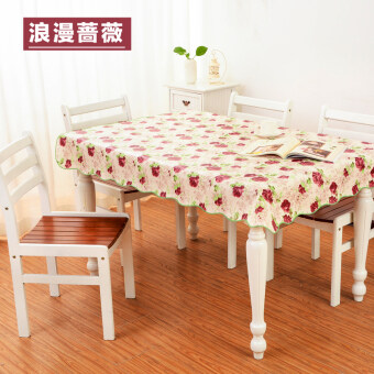 Direct Pvc Waterproof Tablecloth Table Tablecloth Antioil Roundtable Tablecloth Rectangular Coffee Table Cloth